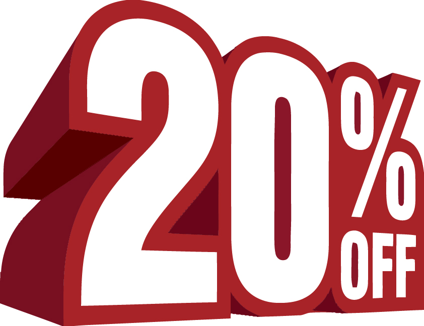20% off text