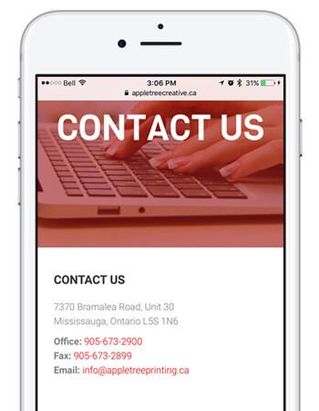 Contact Us Phone Screen Shot