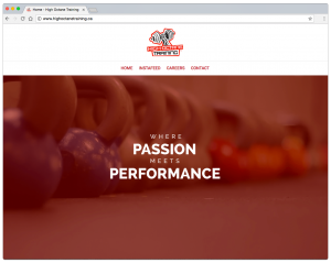 High Octane Training website screenshot